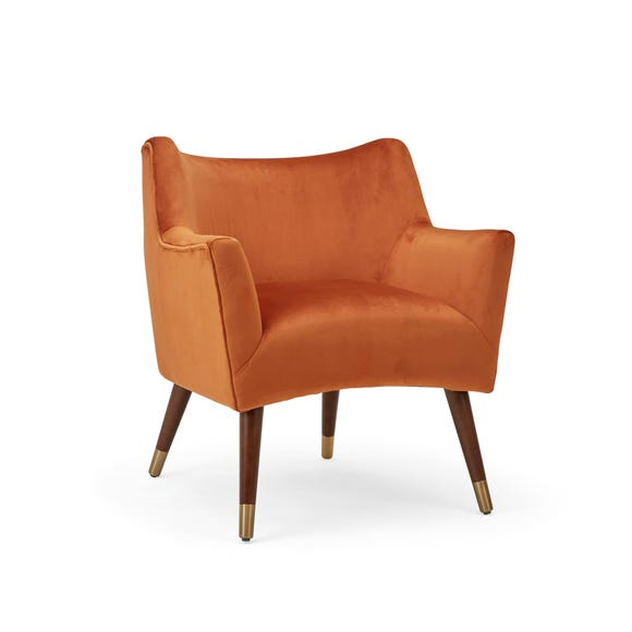 Brody Velvet Chair - Orange