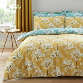 Erin Teal & Ochre Reversible Duvet Cover and Pillowcase Set
