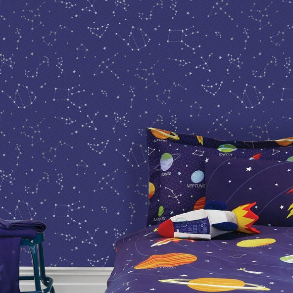 Space Wallpaper Navy
