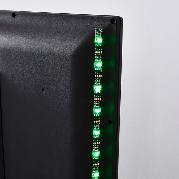 Status TV LED Strip Lighting RGB Colour Changing Black