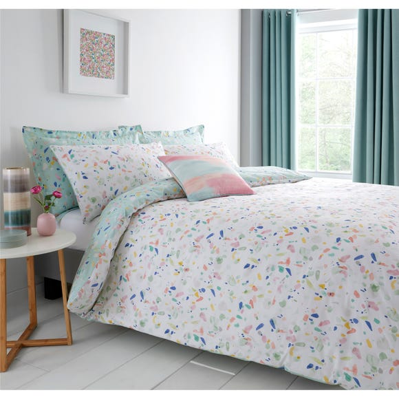 Confetti Reversible Duvet Cover and Pillowcase Set MultiColoured undefined