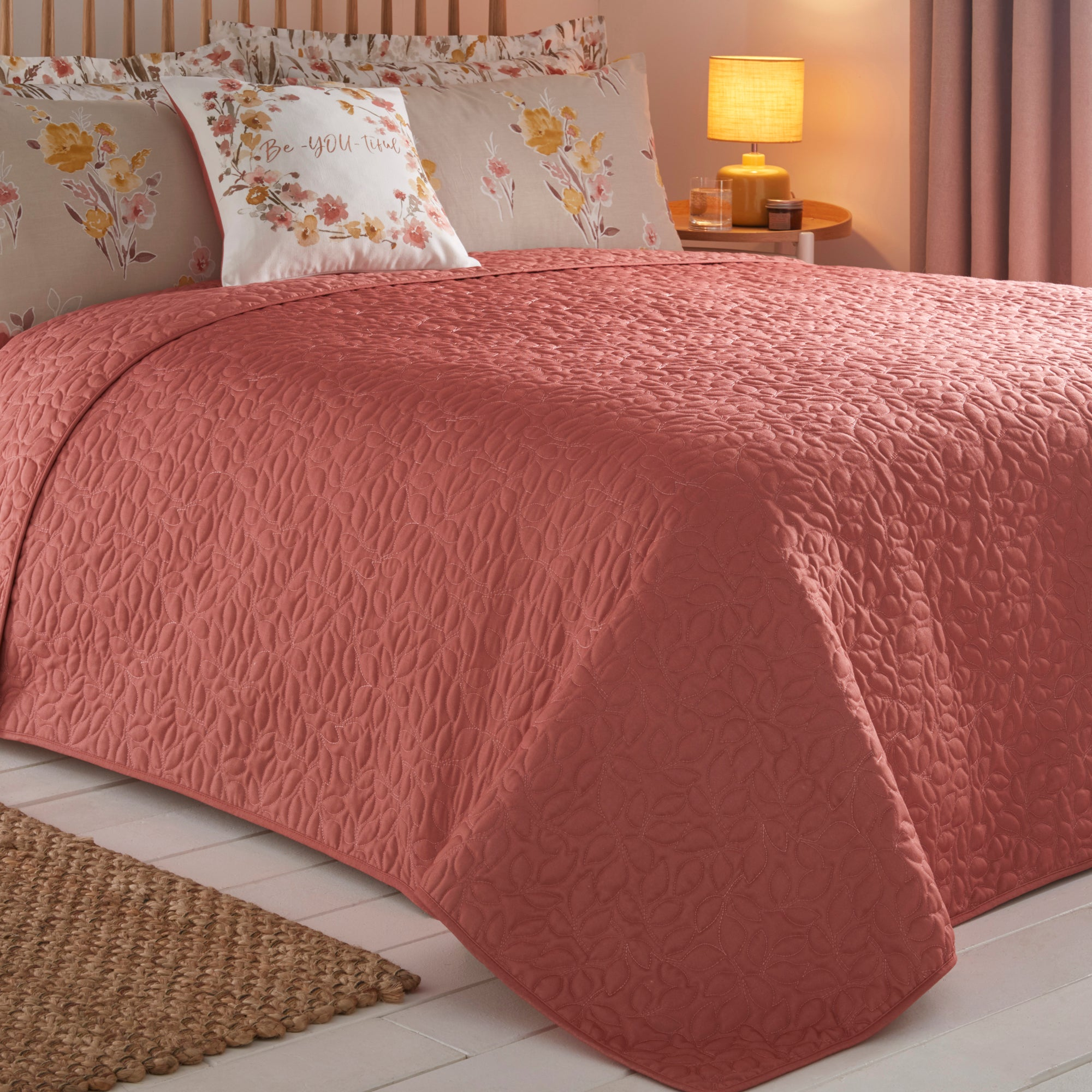 Photo of Amber terracotta bedspread terracotta