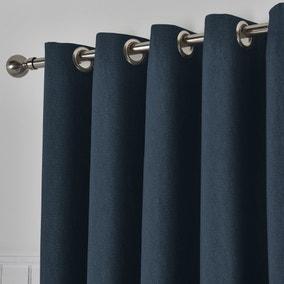 Tyla Navy Blackout Eyelet Curtains