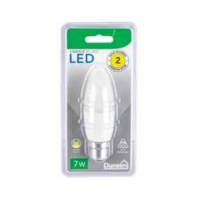Dunelm 7 Watt BC Pearl LED Candle Bulb