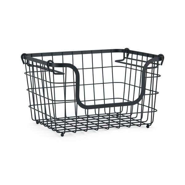 Stackable Wire Basket Black