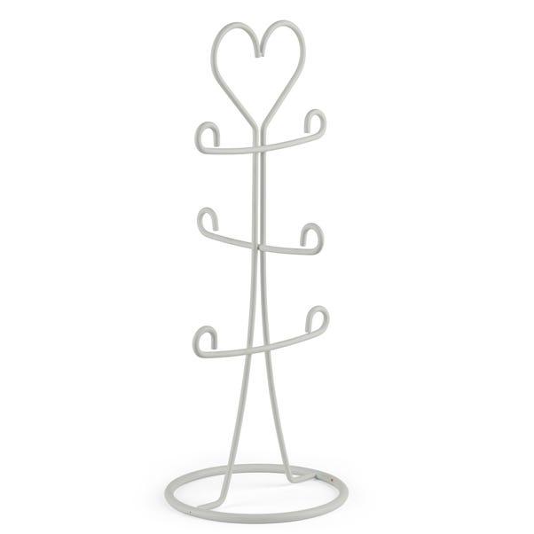 Wire Heart Mug Tree White