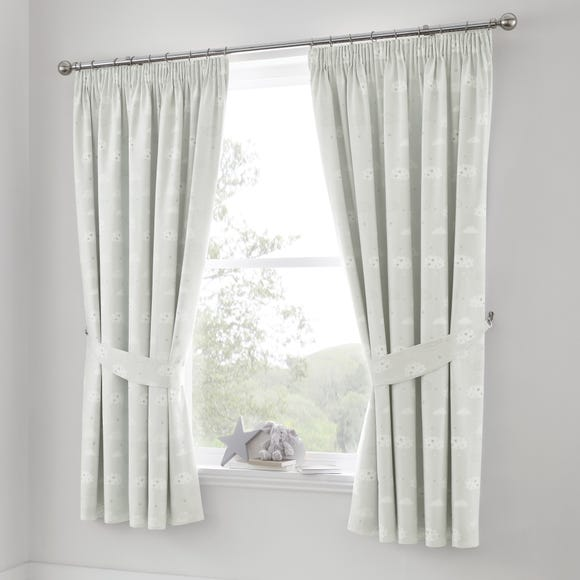 Beautiful Basics Clouds Blackout Pencil Pleat Curtains  undefined