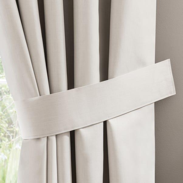 Solar Ivory Curtain Tiebacks