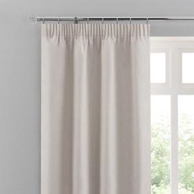 Solar Ivory Blackout Pencil Pleat Curtains