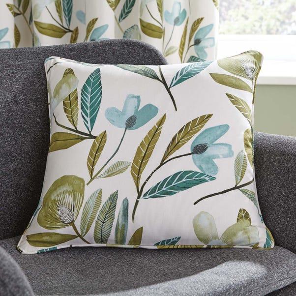 Modern Botanical Green Cushion Green