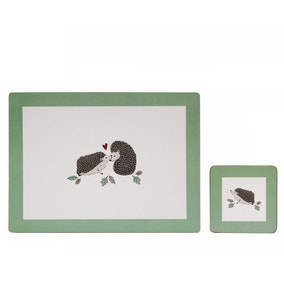 Set of 4 Hedgehog Placemats and Coasters