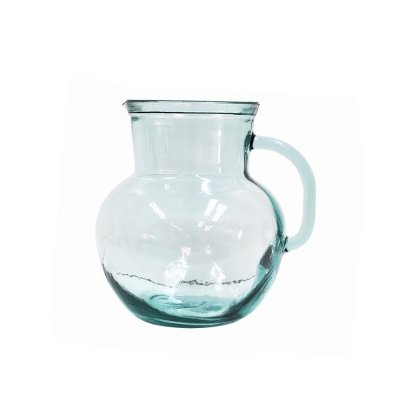 Recycled Glass Jug Clear