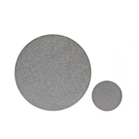 Set of 4 Silver Glitter Placemats and Coasters