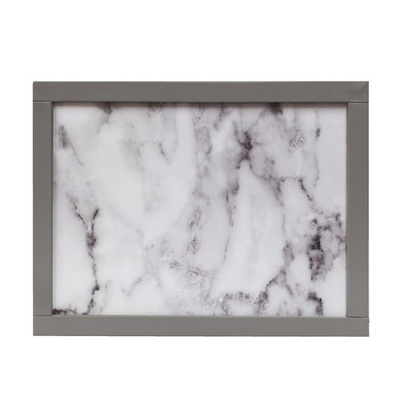 White Marble Effect Laptray White