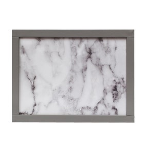 White Marble Effect Laptray