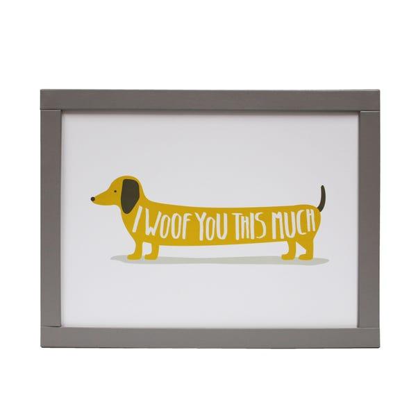 Bertie Sausage Dog Lap Tray White