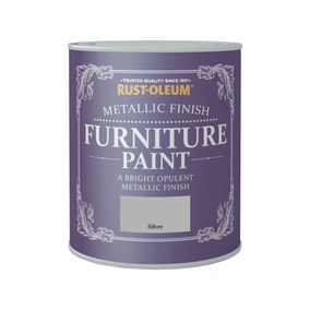 Rust-Oleum Silver Metallic Furniture Paint 125ml