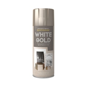 Rust-Oleum White Gold Metallic Spray Paint 400ml