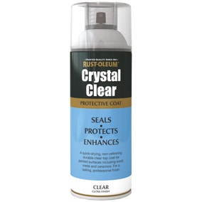Rust-Oleum Crystal Clear Gloss Protective Top Coat 400ml