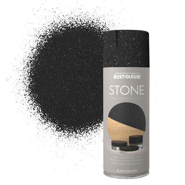 Rust-Oleum Stone Black Granite Spray Paint  undefined