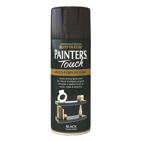 Rust-Oleum Painters Touch Gloss Black Spray Paint