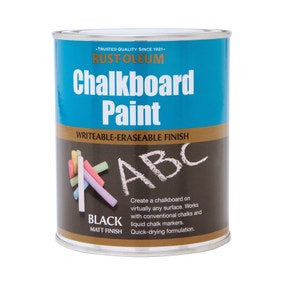 Rust-Oleum Black Chalkboard Paint 750ml