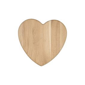 T&G Heart Oak Chopping Board