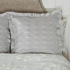 Dorma Maiya Grey Continental Square Pillowcase