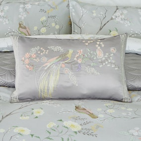 Dorma Maiya Embroidered Grey Cushion