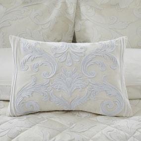 Dorma Acanthus Embroidered Cream Cushion