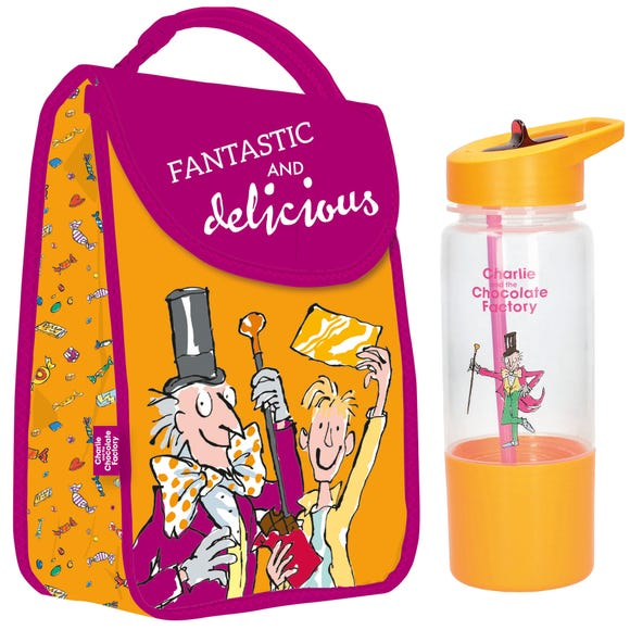 Roald Dahl Charlie Lunch Bag and Water Bottle Orange