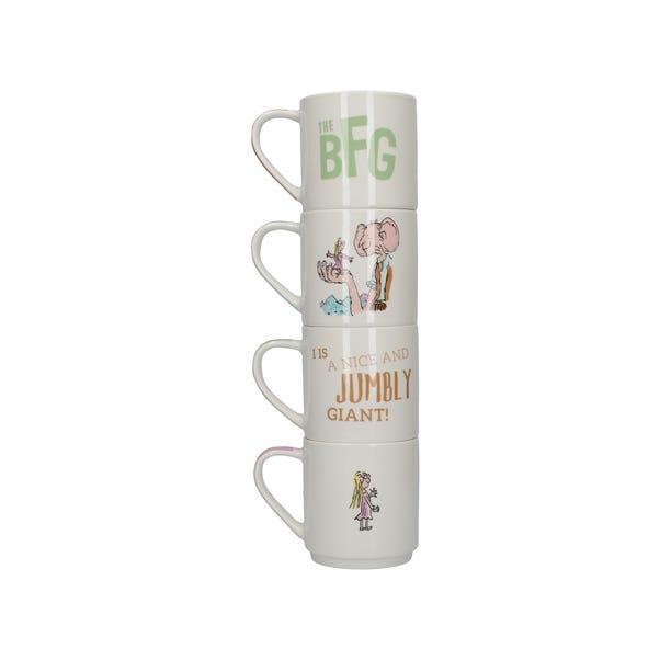Roald Dahl BFG Set of 4 Stacking Mugs Multi coloured