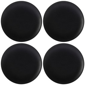 Maxwell & Williams Caviar Set Of 4 28cm Black Coupe Plates