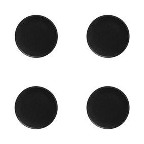 Maxwell & Williams Caviar Set Of 4 21cm High Rim Black Plates