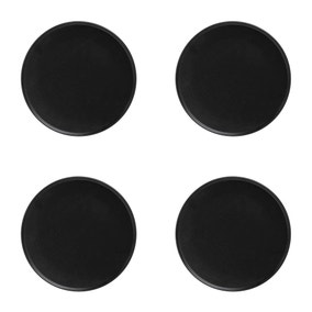 Maxwell & Williams Set Of 4 Caviar 25cm High Rim Black Plates