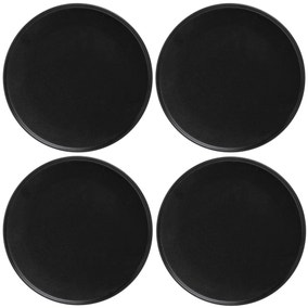 Maxwell & Williams Caviar Set Of 4 27cm High Rim Black Plates