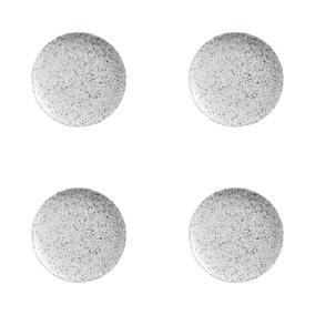 Maxwell & Williams Caviar Speckle Set Of 4 15cm Coupe Plates