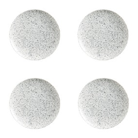 Maxwell & Williams Caviar Speckle Set Of 4 20cm Coupe Plates