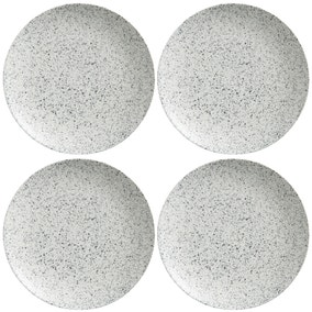 Maxwell & Williams Caviar Speckle Set Of 4 28cm Coupe Plates