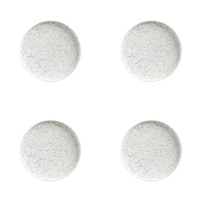 Maxwell & Williams Caviar Speckle Set Of 4 21cm High Rim Plates