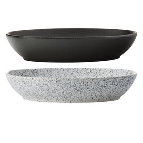 Maxwell & Williams Mixed Caviar Set Of 2 30cm Oval Bowls