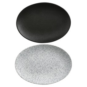 Maxwell & Williams Mixed Caviar Set Of 2 35cm Oval Plates