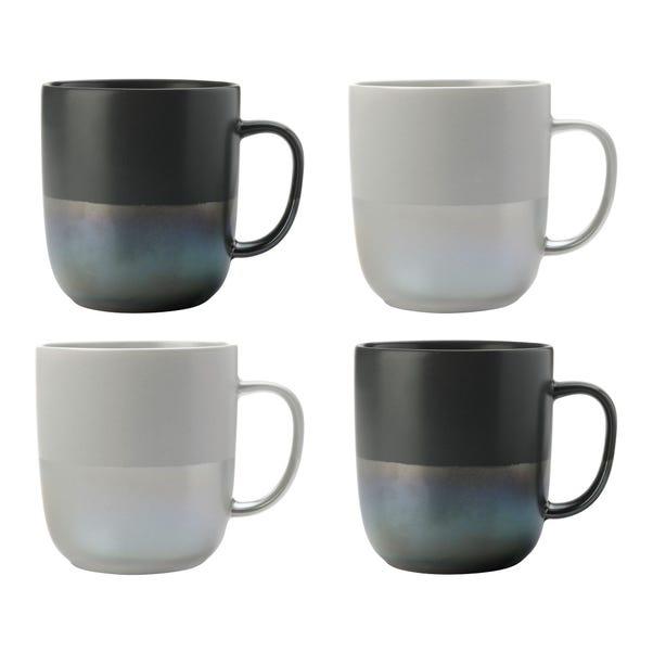 Maxwell & Williams Lune Lustre Set Of 4 Mugs Grey