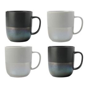 Maxwell & Williams Lune Lustre Set Of 4 Mugs