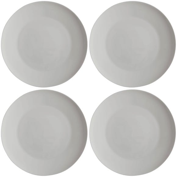 Maxwell & Williams Cashmere Set Of 4 27cm Coupe Dinner Plates White