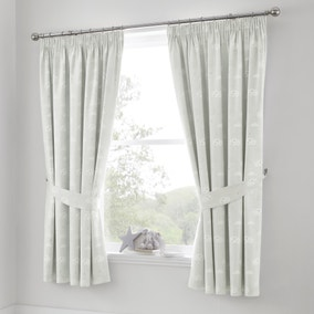 Beautiful Basics Clouds Blackout Pencil Pleat Curtains