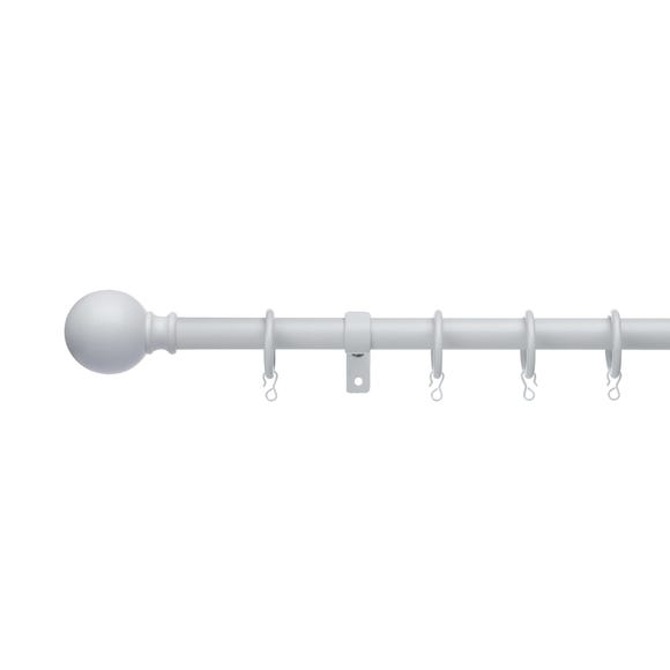 Ashton Extendable White Curtain Pole Dia. 16/19mm  undefined
