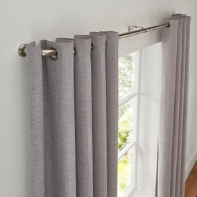 Room Darkening Extendable Satin Steel Curtain Pole Dia. 25/28mm