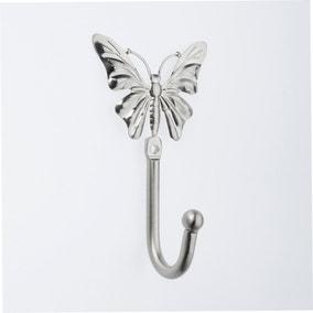 Satin Steel Butterfly Hooks