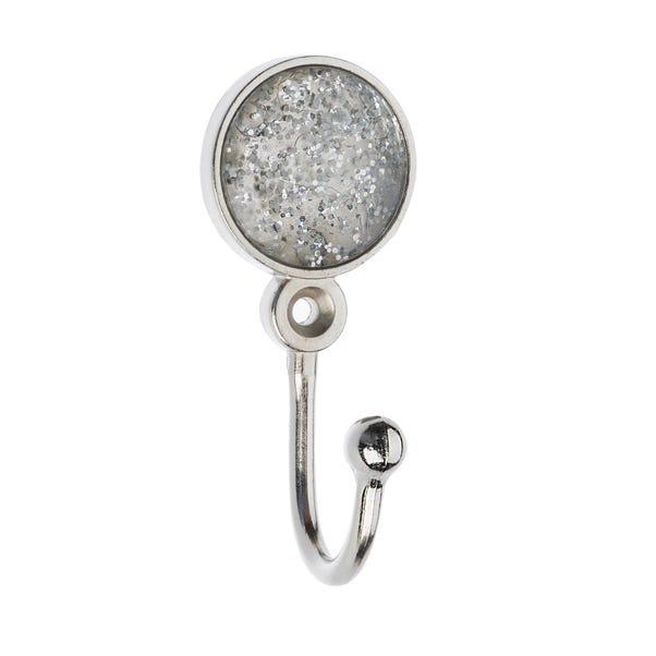 Glitter Ball Satin Steel Hooks Satin Steel (Silver)